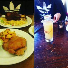 #092715 #먹스타그램 #독일 #germany #frankfurt #frankfurtammain #sachsenhausen #schnitzel #haxen #apfelsaft @heohjung 언니와함께:-)  by tsukihy #haxenhaus #people #food