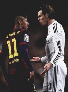 Gareth Bale and Neymar Jr. - Real Madrid vs FC Barcelona el clasico 2015
