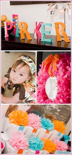 first birthday party   Half Baked – The Cake Blog » Real Party: Modern Flower 1st Birthday