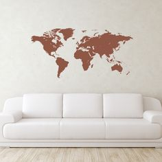World Map Wall Decal | Wall Decal World | Perfect for a classroom, office, or…