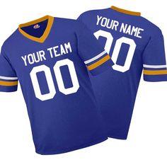 3f136f910 Stripe Sleeve Fan Wear Custom Football Jerseys - includes Team Name