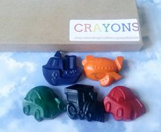 Automotive Crayons - Planes Trains and Automobiles - stocking suffers - Kids Christmas gift - Planes trains and automobiles party favor