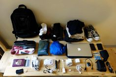 Men's packing list - all in a backpack!