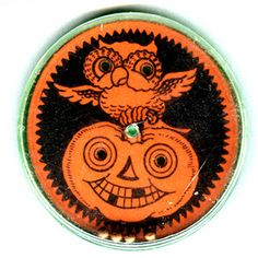 Vintage Halloween Toy ~ Dexterity Toy ~ Try to maneuver the BB's into the Holes for the Owl and Pumpkin's Eyes