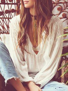 bohemian boho style hippy hippie chic bohème vibe gypsy fashion indie folk look… Gypsy Style, Boho Gypsy, Hippie Style, Hippie Boho, Bohemian Style, Boho Chic, Style Me, Mode Hippie, Mode Boho