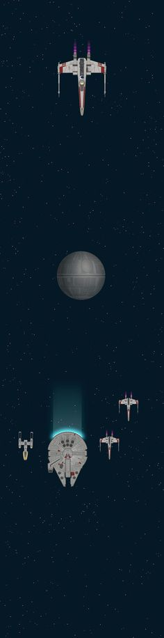 Infographic adaptation of Star Wars A New Hope, 123m (403.5 ft) of scrolling