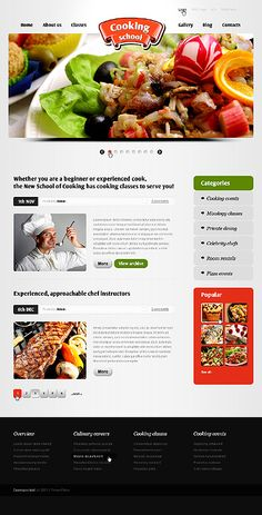 Yammy Cooking WordPress Themes by Nessy School Website Templates, The New School, Drupal, Cooking School, Wordpress, Dining, Food, Dinner, Meal