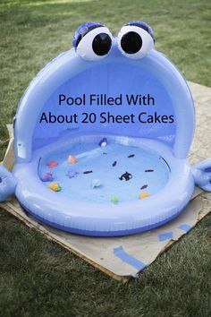 This would be awesome to do if Jason's birthday was in the summer.lol Smash Cake
