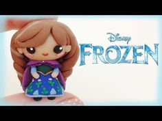 ▶ Disney Frozen Anna Polymer Clay Charm Tutorial - Chibi - YouTube