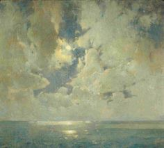 Emil Carlsen The Heavens Are Telling (also called Moonlight and Sea), c.1918