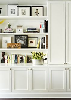 Bookshelves and built in cupboard.....