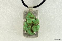 Turquoise and Sterling Pendant by riegledesign on Etsy, $75.00