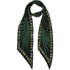 Rockins Palms printed silk crepe de chine scarf ($180) via Polyvore featuring accessories, scarves, tying silk scarves, print scarves, tie scarves, silk shawl and pure silk scarves