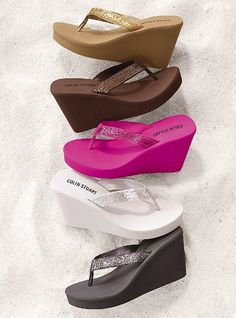 Glitter Flip~Flop: For casual wear with amazing comfort, these are a special treat! And LOOK at the deal!  $19 or Special 2/$30  #235-283