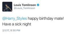 tweet for Harry's birthday