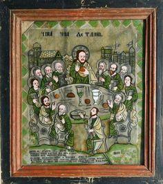 Imagini pentru icoane pe sticla vechi Orthodox Icons, My Arts, Traditional, Painting, Frame, Glass, Saints, Picture Frame, Drinkware