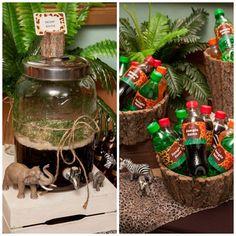 safari-jungle-theme-party-dessert-table-drinks