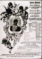 Locandina di Antonio e Cleopatra al Teatro Nazionale di Bucarest, 1899  Venezia, Fondazione Giorgio Cini