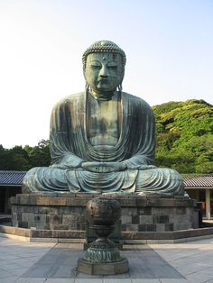 Kamakura Daibutsu (Amida Nyorai), 1885. Bronze 43.ft/13.35 m.  Kamakura, Japan. Wikipedia