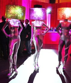 Tryon Entertainment reworks traditional notions of event lighting into an opportunity for living decor The companys So Shady concept transforms models into human lamps by.