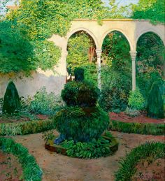 Jardí de Can Puig - Santiago Rusiñol i Prats (Barcelona, Catalonia, 1861 – Aranjuez, Spain, 1931), Catalan painter, writer, journalist and playwright.