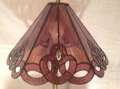 Lámpara de vidrio por WeaverHouseofGlass en Etsy