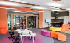 Amesbury School in Wellington - features flexible learning spaces and integrated furniture systems