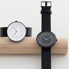 Industrial designer Samuel Wilkinson has revealed a new watch collection for Glasgow brand Nomad, featuring minimal dials and irregular markings. #minimal #luxurywatches #Scottishdesign #Swedishleather #design #watches