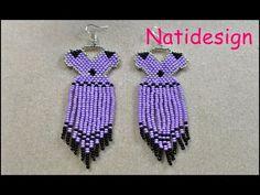Beaded Jewelry Designs, Diy Jewelry, Jewelry Making, Handmade Bracelets, Drop Earrings, Mary, Pattern, Crafts, Youtube