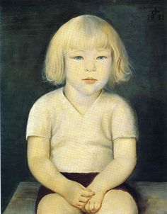 Otto Dix - The Artist's Son Ursus Sitting, 1931