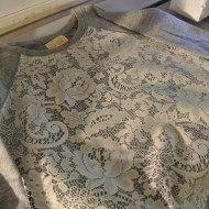 Lace sweatshirt diy - heat bond