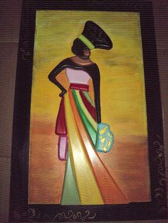 Mural Wall Art, Hanging Wall Art, African Art Paintings, Clay Art Projects, Cardboard Art, African American Art, Diy Canvas Art, Coq, Pottery Studio