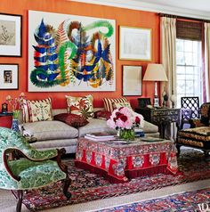 A living room designed by Daniel Sachs | archdigest.com