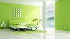lime green bedrrom - Google Search