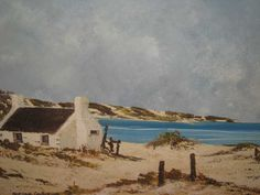 Arniston Fishermans Cottage, South African Artists, West Coast, Cottages, Landscape Paintings, Places, Photography, Ideas, Cabins