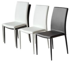 The Dora stackable modern dining chair is covered in a soft plush leather-look PU from head to toe and is available in black or cream Height Dining Stools, Leather Dining Chairs, Modern Dining Chairs, Dining Room Chairs, Home Furniture, Furniture Design, Home Office, House Plans, Contemporary
