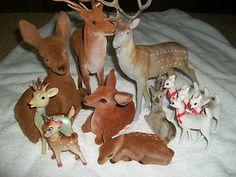 Christmas Reindeer Assortment 1950s-60s-70s