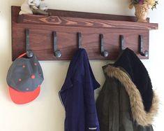 Railroad Spike Perchero estante, estante de rejilla de entrada capa, sombrero