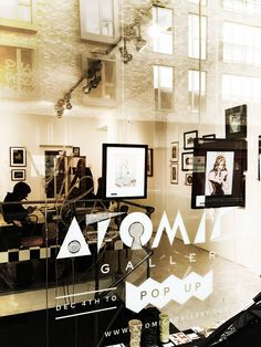 We love the Atomica logo. A great #popup #art #gallery in #shoreditch. Here only for #christmas #2012!