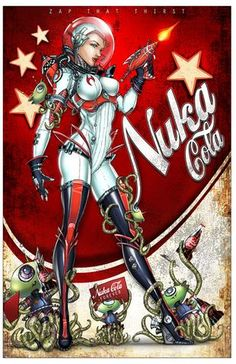 Nuka Cola art print by Jamie Tyndall Fallout Art, Fallout Posters, Fallout Nuka Cola, Fallout Cosplay, Arte Sci Fi, Sci Fi Art, Game Design, Dibujos Pin Up, Fall Out 4