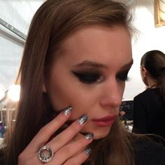 Our Glitter Goth mani for #Libertine is making us melt! @Katie Jane hughes  does it best!