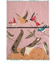 Oldham and Harper Birds' Feeding Station Tea Towel