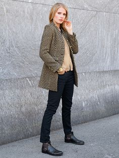 #Gehrock, #Jeans und #Strickjacke by Brigitte von Boch #bevonboch #frock #denim #knit
