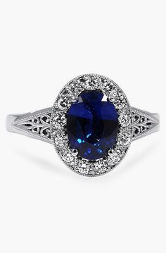 Custom Ring, Ornate Filigree Halo Ring