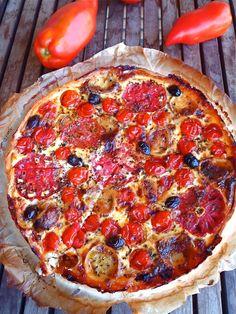 Les receptes que m'agraden: Quiche de tomates i formatge de cabra - Quiche de ...