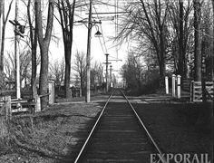 Arrêt de tramway des Jésuites sur la ligne du Sault-au-Récollet  1913 (Montréal)