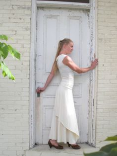 This simple wrap skirt drapes so beautifully, and is made to order by Yana Dee in Michigan in 19 different color options.