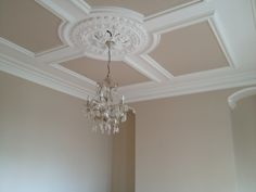 Victorian ceiling rose  coving ....love it even more now its painted a few shades darker as it brings out all the detailing in the feature ceiling. #ceilingrose #ceiling