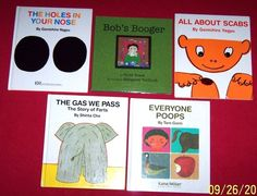 Everyone Poops~Bob's Boogers~Holes in Your Nose~Scabs~5 Hardcover Books~Age 3-8