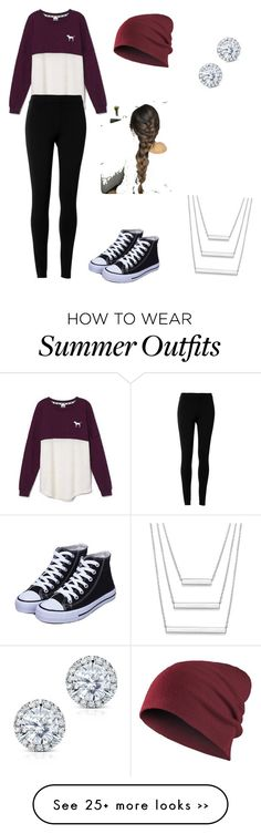 """Simple Go to school outfit"" by no3ly on Polyvore featuring moda, Victoria's Secret, Max Studio e Kobelli"